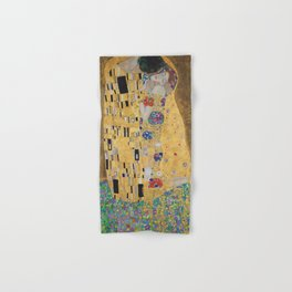 Gustav Klimt, The Kiss (Lovers), 1908 - Reproduction under Belvedere, Vienna, Creative Commons License CC BY-SA 4.0 Hand & Bath Towel