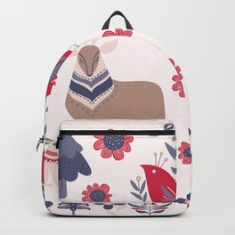 Scandinavian Winter Pattern Beige #society6 #buyart Backpack