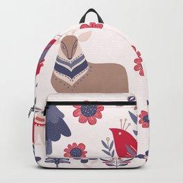 Scandinavian Winter Pattern Beige #society6 #buyart Backpack