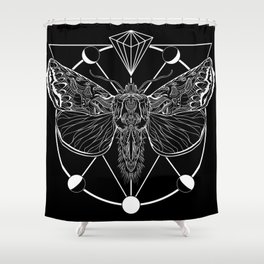 Icarus Moth Shower Curtain