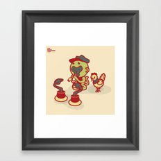 Snake Charmer Monkey Framed Art Print
