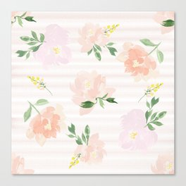 Gigi Collection - Peach Peony Canvas Print
