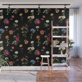 Vertical Garden (Black) Wall Mural