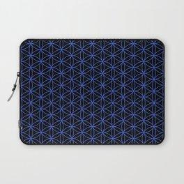 Flower of Life Pattern – Blue on Black Laptop Sleeve