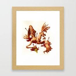 THE BIRD WOUNDED BY AN ARROW Framed Art Print