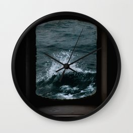 Wave out of a window of a ship – Minimalist Oceanscape Wall Clock