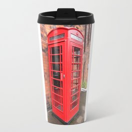 red phone call box london Travel Mug