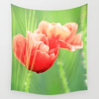 poppy Wall Tapestries featuring Poppy by Falko Follert Art-FF77