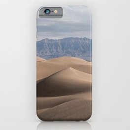 View on sand dunes in desert of Iran | Landscape with mountains iPhone Case