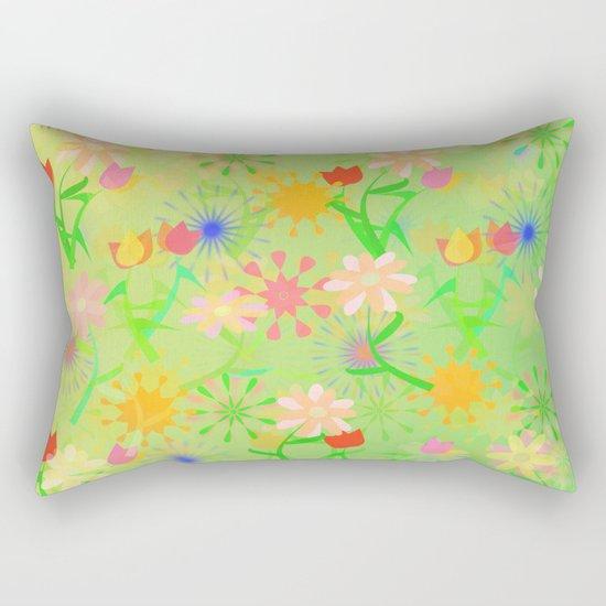 Spring Riot Pattern Rectangular Pillow