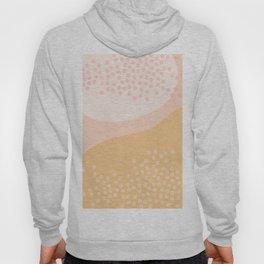 Peachy Tone Abstract Print Hoody