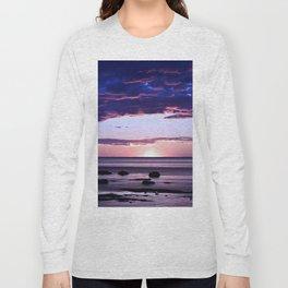 Coastal Sunset Sainte-Anne-Des-Monts Long Sleeve T-shirt