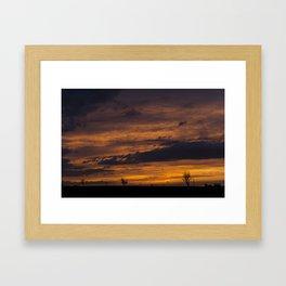Orange and Purple Cloudscape Framed Art Print