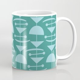 Retro Mid Century Modern Abstract Mobile 675 Teal and Blue Coffee Mug