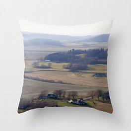 November Farm Throw Pillow