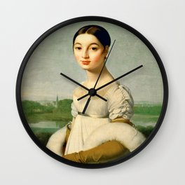 "Jean-Auguste-Dominique Ingres ""Mademoiselle Riviere"" Wall Clock"