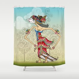 wayang Princess Srikandi Shower Curtain