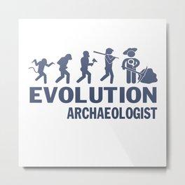 Evolution - Archaeologist Metal Print