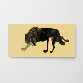 Black wolf totem Metal Print