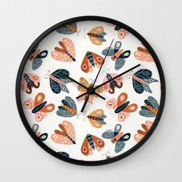 Moth Specimens – Yellow Wall Clock
