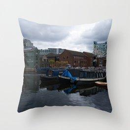 Regency Wharf Birmingham Throw Pillow