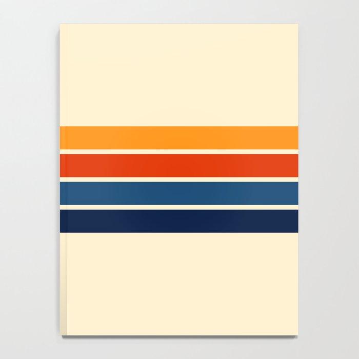 Classic Retro Stripes Notebook