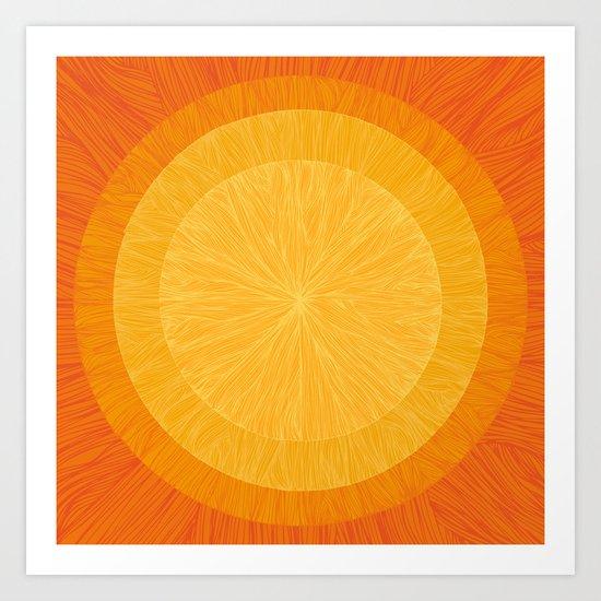 Pulp Saffron Art Print