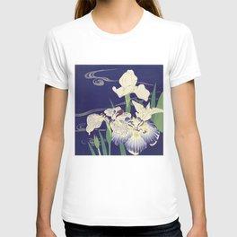 Irises byTsukioka Kôgyo Japanese Woodcut T-shirt