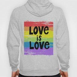 Love is love over the rainbow Hoody