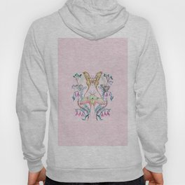 Chinese Moon Moth and Butterflies Hoody