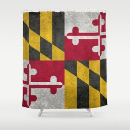 Maryland State flag - Vintage retro style Shower Curtain