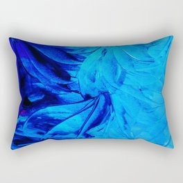 PETAL PINWHEELS - Deep Indigo Blue Royal Blue Turquoise Floral Pattern Swirls Ocean Water Flowers Rectangular Pillow