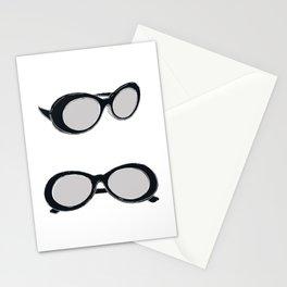 60s Black Retro Sunglasses | Mod Stationery Cards