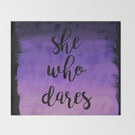 She Who Dares - Indigo Ombre Throw Blanket