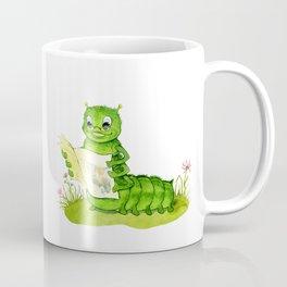 Clever caterpillar reading a popular magazine Coffee Mug