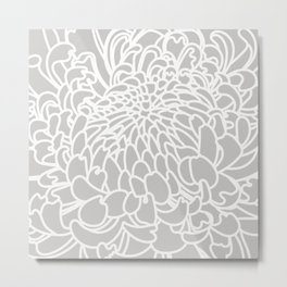 Gray Chrysanth Metal Print