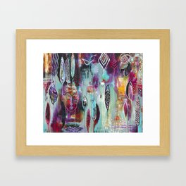 """Muse Dance"" Original Painting by Flora Bowley Framed Art Print"