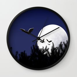 Bats in the Moonlight Wall Clock