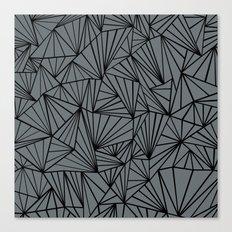 Ab Fan Grey and Black Canvas Print