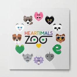 HEARTIMALS™ ZOO Metal Print