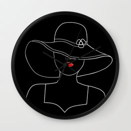 A Touch Of Red Wall Clock