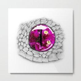 Bush Viper Eye No. 2 - Reflections Metal Print
