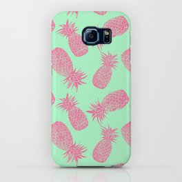 Pineapple Pattern - Mint & Crimson iPhone Case