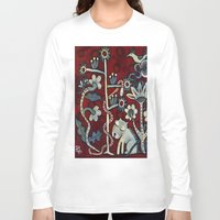 forrest Long Sleeve T-shirts featuring Red Forrest by Dawna Kinne Magliacano