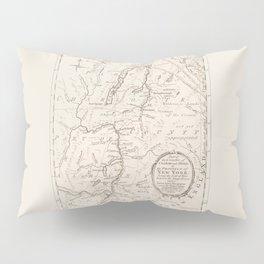 Vintage British Map of Lake George Area Pillow Sham