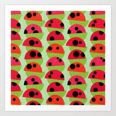 Leaf and Ladybird Art Print