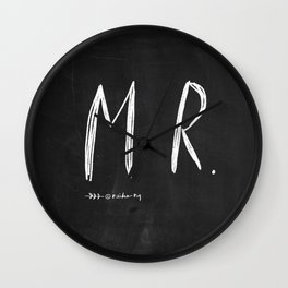 Mr & Mrs - wedding decoration Wall Clock