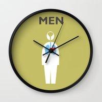 men Wall Clocks featuring Men by alex NEI