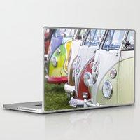 volkswagen Laptop & iPad Skins featuring Old Volkswagen Splitty Buses by Premium