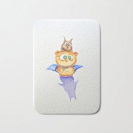 I am Teddy-bat! Bath Mat